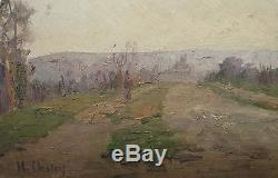 Henry Marie Charry Wood Painting Circa 1920 Painter Lorrain St Rémy Chevreuses