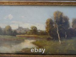 Hsp Ancienne 19th Framed Dlg Paysage Ecole Barbizon Dlg Galien Laloue Dupuy