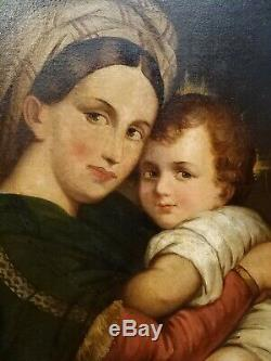 Imposing Picture School Nineteenth Virgin To Chair After Raphael Anonymous Hst