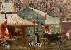 Impressionist Painting Landscape Faire Caraine Tents Impressionisme Oil Manet