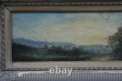 Italy Landscape Oil On Panel Signed Molin