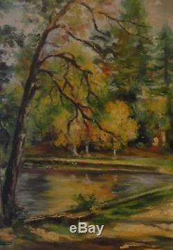 Jacques Bétourné (1922-1984) Very Rare Impressionist Painting Oil Barbizon
