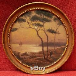 Jacques Marcelin Table Brittany Brittany Coast Landscape Light Sea Moon Night