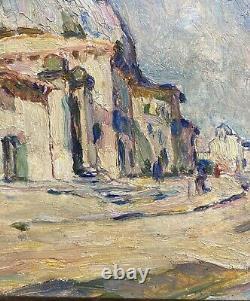 Jean Aubery Oil On Wood Avignon