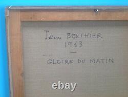 Jean Berthier (1923-2004) Oil Canvas 1963 Ecole De Paris 94cm Lyric Abstract