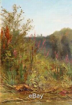Jean Charles Mercier, Landscape, Painting, River, Barbizon, Impressionism
