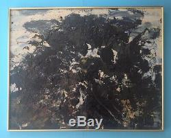 Jean Jedougez Very Rare Hsp Oil 1950 Abstract Lyric Tachisme School Of Paris