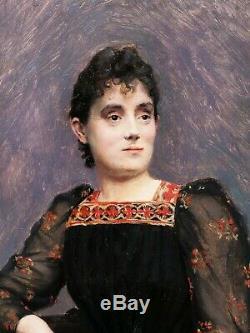 Jean Joseph Weerts Woman Picture Portrait Painter Roubaix Belgian Napoleon III