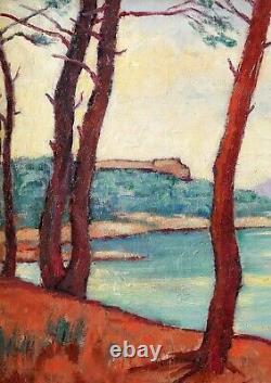 Jean Lubet, Saint-tropez, Var, Painting, Landscape, Sea, Beach, France, Symbolism