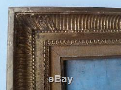 Landscape Barbizon Late 19th Century Table Oil On Wood Box Close Corot
