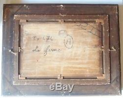 Landscape Barbizon Late 19th Century Table Oil Wooden Box Close On Corot