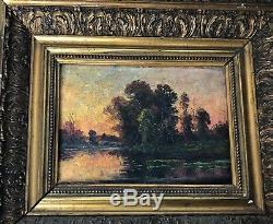 Landscape, Oil On Panel, Era Xixe
