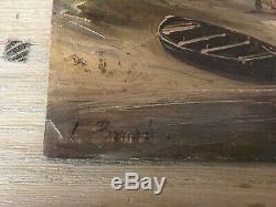Leon Brard Rare Hsp Painting Marine Seaside XIX (1830-1902)