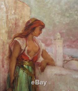 Leon Geille De Saint Leger Painting Woman French Art Orientalist Orientalism