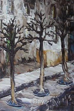 Leon Schwarz Abrys 1905-1990 Impressionist Painting School Of Paris Montmartre