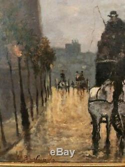 Leopoldo Burlando (1841-1915) Fiacre In Milan, Circa 1880 Italian School