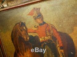 Lot 2 Beautiful Oil On Panel Gericault 1791 Wood Frame Dore