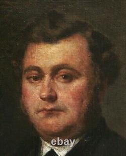Louis Alexandre Dubourg Painting Oil Portrait Man Painter Normandy Honfleur