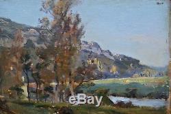 Louis Cabie 1853-1939 Harpignies Corot Bordeaux Impressionist Landscape Dordogne