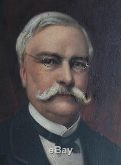 Louis Pomey Painting Portrait Of Etienne Jules Texier Family De Courcel