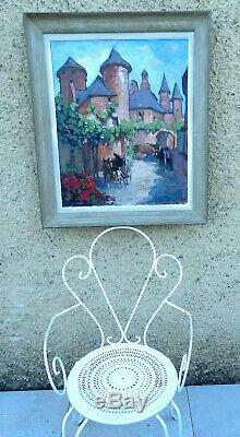 Louis Rollet 1895-1988. Collonges-la-rouge In Correze. Grand & Beautiful Table