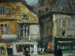 Lucien Jonas 1880-1947 Lively Place In Dinan 1922 Brittany. Anzin, North, Minor