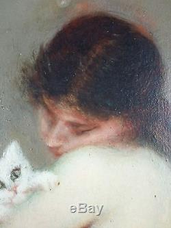 Maria Labat Old Painting Oil Painting Original Antique Oil Painting Old