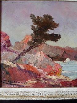 Marine French Riviera Provençal Provence Impressionniste Signed Crassous Fils XX