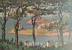 Marine Landscape Of Brittany, Hsb, Signed Paul Esnoul (1882-1960), Dated 1937, Framed