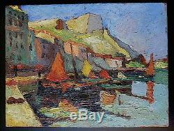 Marine Port Corse Bonifacio Boats Fauve Cubiste To Identify XX