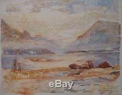 Maud Gerard (1915-2013) Oil On Wood / Belgian School / 1948 / Impressionism