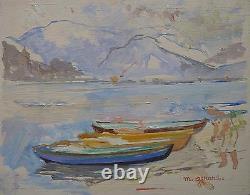 Maud Gerard (1915-2013) Wood Oil 19x24cm 1948 Belgian Impressionism School