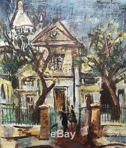 Maurice Empi Painting Hst Church Saint Pierre Place Tertre Sacré Cur Montmartre