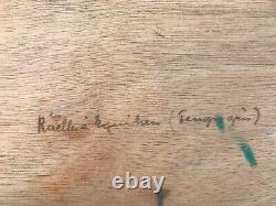 Maurice F. Perrot (1892-1935) Original Oil Oil On Signed Wood Panel