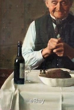 Max Barascuts, Portrait, Man, Still Life, Painting, Painting, Hammershoi