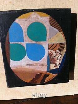 Max Papart 1911-1994 Cubist Original Oil On Sign Signed Countersigned