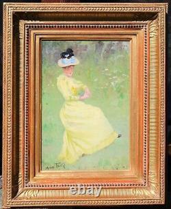 Maxime Faivre, Painting, Woman, Impressionism, Portrait, Belle Époque