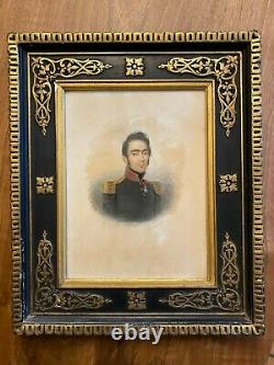 Military Portrait 1793 1870 & Empire & Drawing Watercolor & To Identify & XIX
