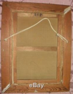 Montparnasse Vintage Wooden Frame Carved & Table Oil On Canvas Format 10p