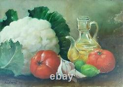 Nature Dead To Fruits. Oil On The Table. Sign Joan Albert. Circa 1980
