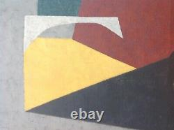 Numa Walter Rickenbacher (1902-1973) Rare Oil Hst 58 Constructivism Cubism