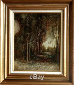 Oil François-auguste Ravier 1814-1895 Authenticity Warranty 33x41 Wood Thuile