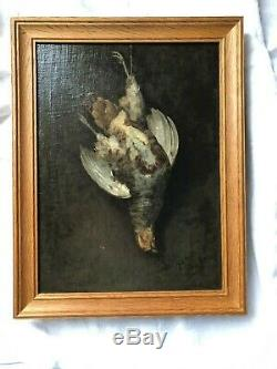 Oil On Canvas La Becasse Sign H Voes Date 1866 Wooden Frame