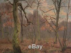 Oil On Canvas Signed Bousquet Representing An Undergrowth