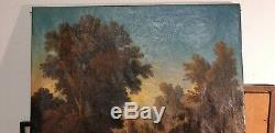 Oil On Canvas Signed XIX Century Blanchard Landscape In Vibrant Wood