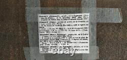 Oil On Old Wooden Panel Riverside Signed Felix Perret, Dim38x19 CM
