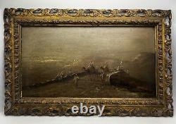 Oil On Orientalist Wood Signed Inoel 19th Century