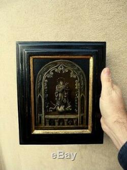 Oil On Panel 17th Century Painting 17th Panel Haute Epoque Christ Virgin Mary