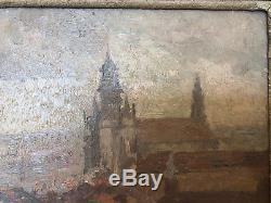 Oil On Panel By Jules Adler Brussels 1895 Monument Frame D Origin C1296