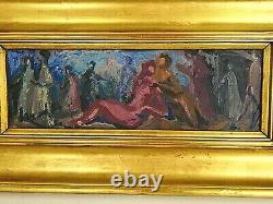 Oil On Panel Les Bacchanales Signed Gérard Locardi (1913-1994)